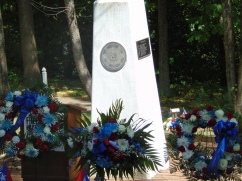Wreaths decorating Puerto Rican Medal Of Honor Grove Monument